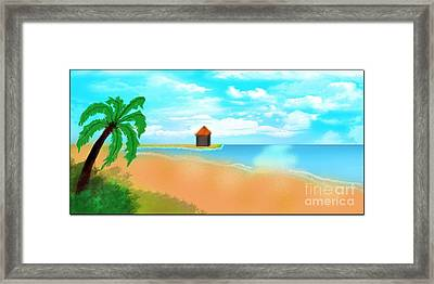 The Calm Coast Framed Print by Sheikh Designs