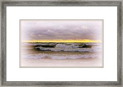 The Calm Is Comming   After The Storm On Lake Michigan Framed Print