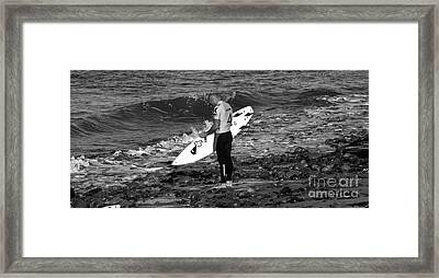 The Calm - Kelly Slater Framed Print