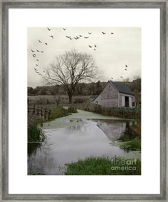 Framed Print featuring the photograph The Calm by Mary Lou Chmura