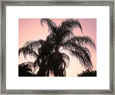 The Calm Of Twilight Framed Print by Natache  DOyen