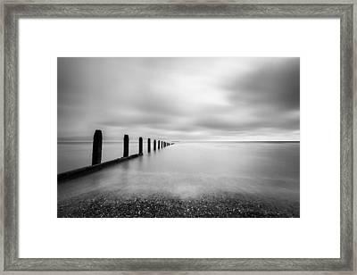 The Calm Sea. Framed Print