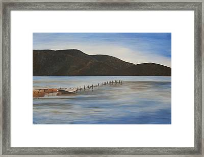 Framed Print featuring the painting The Calm Water Of Akyaka by Tracey Harrington-Simpson