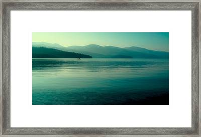 The Calmness Of Priest Lake Framed Print by David Patterson