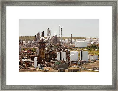 The Caltex Oil Refinery Framed Print by Ashley Cooper