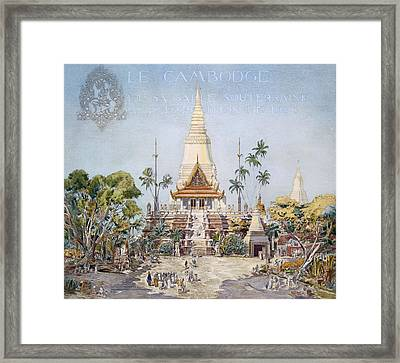 The Cambodian Pavilion, Paris Expo Framed Print by Alexandre Auguste Louis Marcel