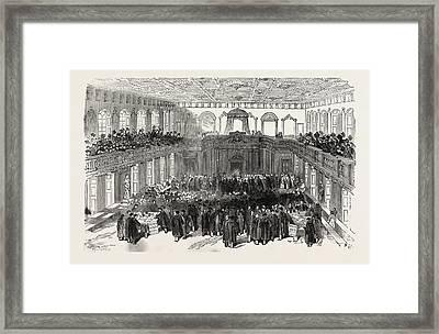 The Cambridge Chancellorship Election Interior Framed Print