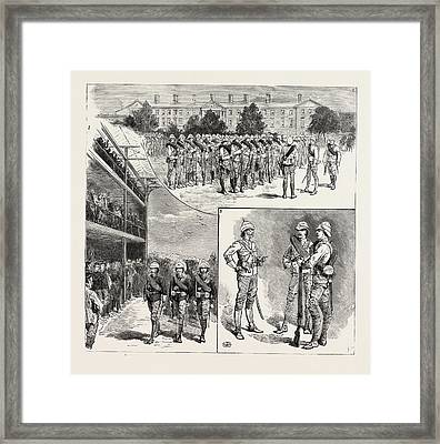 The Camel Corps For The Nile Expedition Framed Print by English School