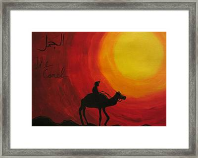 The Camel Framed Print by Haleema Nuredeen