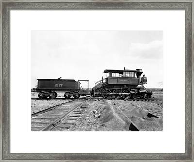The Camelback Locomotive Framed Print by Underwood Archives