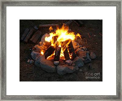 The Campfire Framed Print