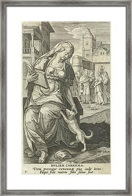 The Canaanite Woman, Adriaen Collaert, Philips Galle Framed Print by Adriaen Collaert And Philips Galle And Cornelis Kiliaan