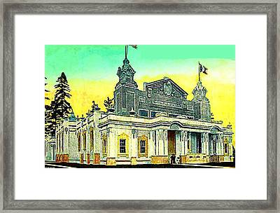 The Canada Bldg At The Alaska Yukon Pacific Expo In Seattle Wa In 1907 Framed Print by Dwight Goss