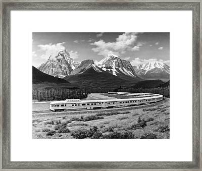 the Canadian Train Framed Print by Underwood Archives