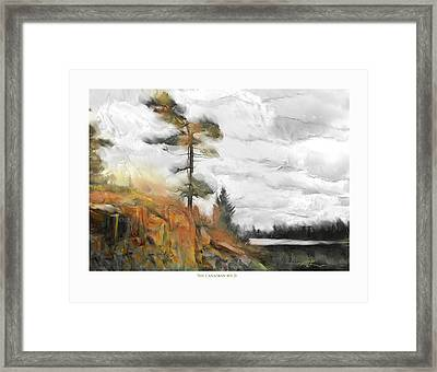 Framed Print featuring the painting The Canadian Wild by Bob Salo