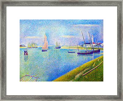 The Canal At  Gravelines Framed Print by Georges Seurat