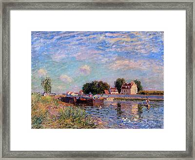 The Canal At Saint-mammes Framed Print by Alfred Sisley