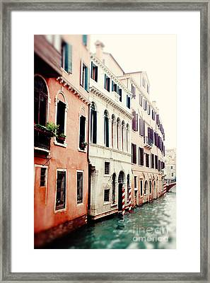 The Canals Framed Print by Erin Johnson