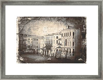 The Canals Of Venice  Framed Print by Steven  Taylor