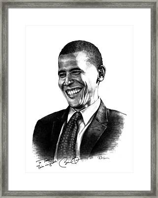 The Candidate Framed Print