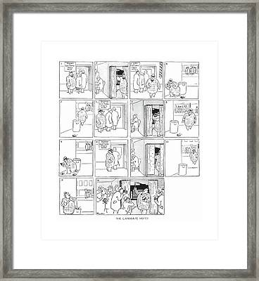 The Candidate Votes Framed Print