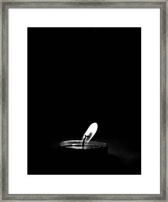 The Candle Light Framed Print by Gautam Gupta