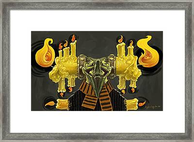 The Candle Man Framed Print by Augustinas Raginskis