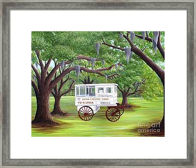 The Candy Cart Framed Print