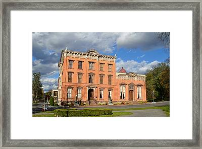 The Canfield Casino Saratoga Springs Framed Print by Tom Wurl