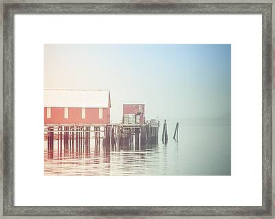 The Cannery In Fog Framed Print