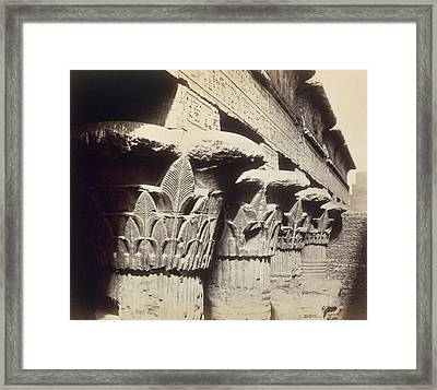 The Capitals Of The Portico Of The Temple Of Khnum In Esna Framed Print