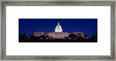 The Capitol At Nighttime Framed Print
