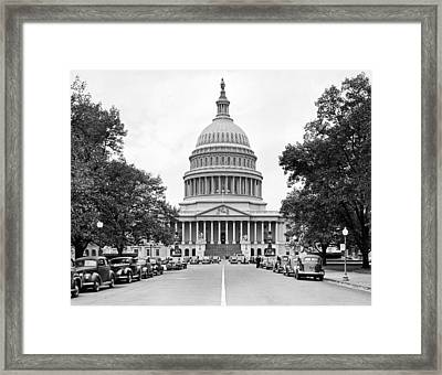 The Capitol Building Framed Print