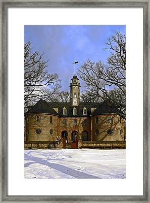 The Capitol In Snow Framed Print by Sally Weigand