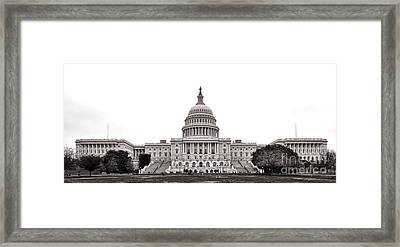 The Capitol Framed Print by Olivier Le Queinec