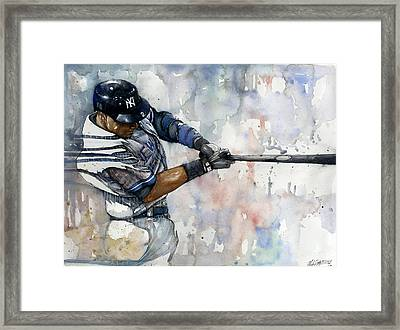 The Captain Derek Jeter Framed Print