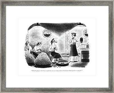 The Captain Thinks It Would Be Nice Framed Print by Richard Taylor