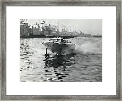 The �captain�s Barge� - 1963 Version Framed Print by Retro Images Archive