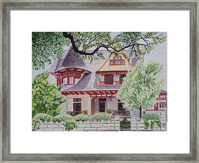 the Captain's House Framed Print