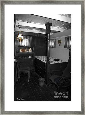 The Captains Quarters Framed Print by Cheryl Young