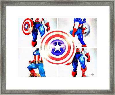 The Captain's Shield Framed Print by HELGE Art Gallery