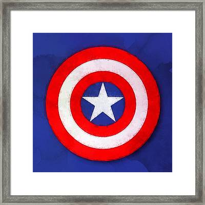 The Captain's Shield Framed Print by Sandy MacGowan