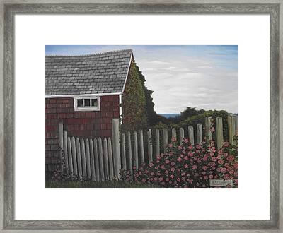 The Captain's Widow's House Framed Print