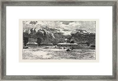 The Capture And Release Of Colonel Synge The Landing Place Framed Print by English School