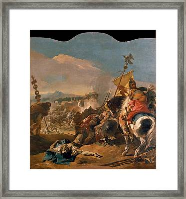 The Capture Of Carthage Framed Print by Giovanni Domenico Tiepolo