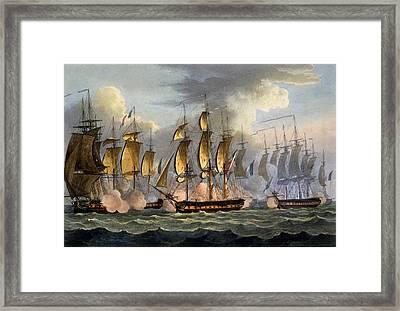 The Capture Of La Raison Framed Print by Thomas Whitcombe