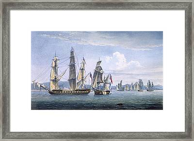 The Capture Of Le Sparviere Framed Print