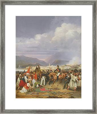 The Capture Of Morea Castle, 30th October 1828, 1836 Oil On Canvas Framed Print by Jean Charles Langlois