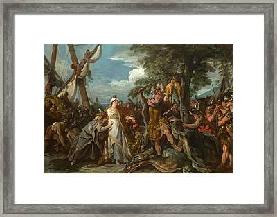 The Capture Of The Golden Fleece Framed Print by Jean-Francois Detroy