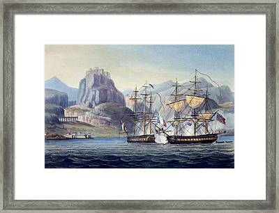 The Capture Of The Var By Hms Belle Framed Print by English School